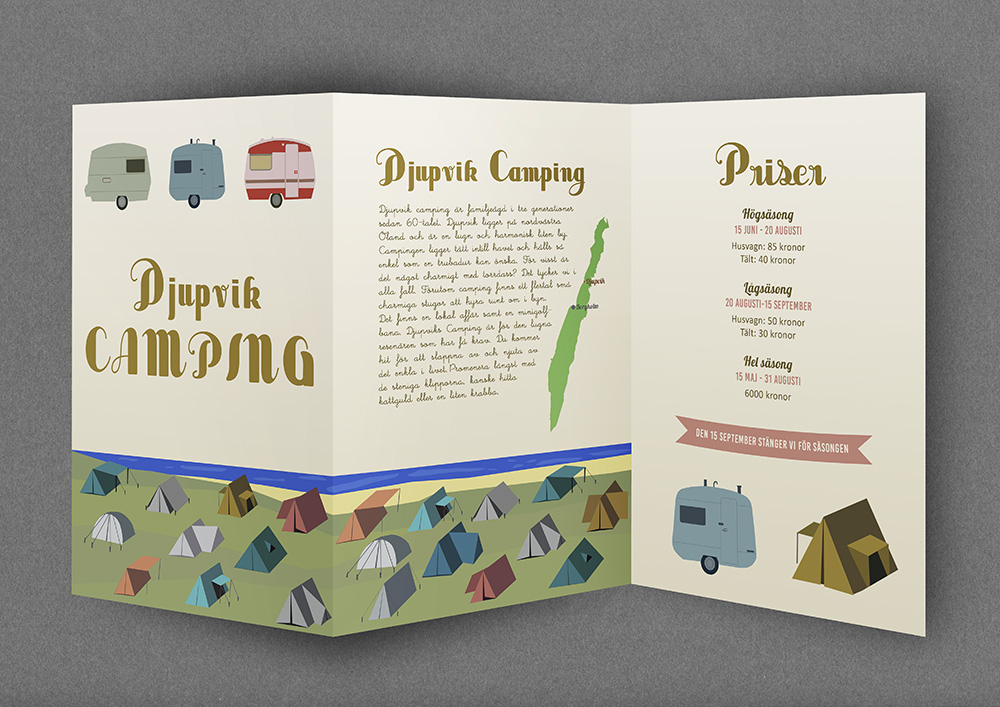 Djupvik camping folder
