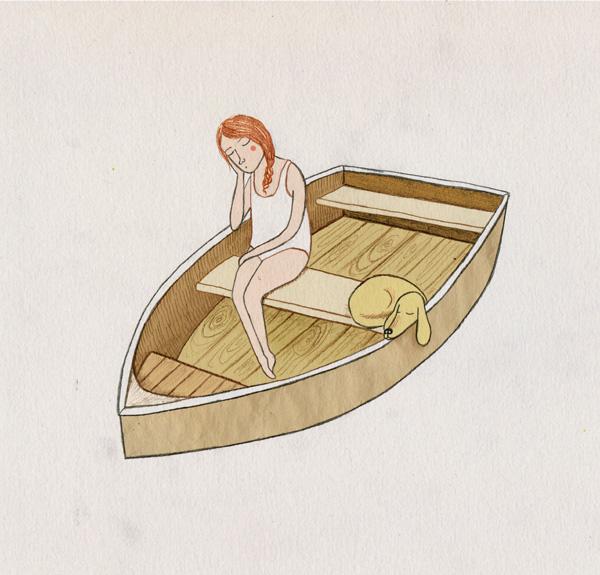 girl_dog_boat